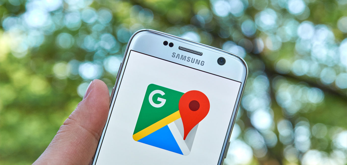 Google maps on mobile device
